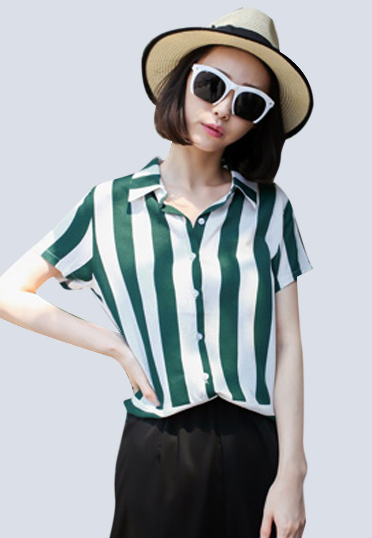 Leisurely Stripes Nautical Top
