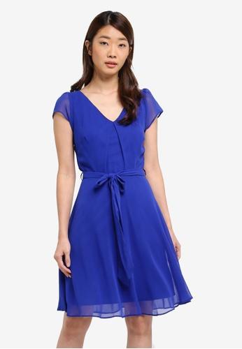 Dorothy Perkins blue Billie & Blossom Cobalt Chiffon Dress E917BAA194FD3BGS_1