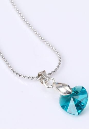CELOVIS blue S Series Swarovski® Crystal Pendant (Blue Green) CE446AC25MASMY_1