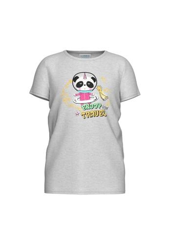 LC Waikiki grey Printed Cotton T-Shirt 42BF5KA5F752E2GS_1