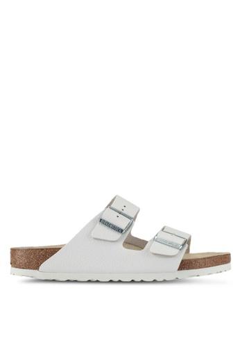 Birkenstock white Arizona Smooth Leather Sandals 500D2SH89E66F4GS_1