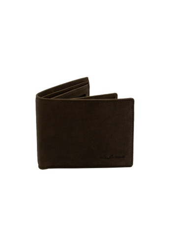 EXTREME brown Extreme Genuine Leather Short Wallet Bifold Mid Flap RFID Prevention Dark Brown C6572AC50E3BA2GS_1