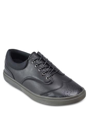 雕花仿皮繫帶休閒adl esprit鞋, 鞋, 鞋