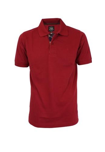 The Savile Row Co. red The SAVILE ROW Co Men's Short Sleeve Slim Fit Polo Tee-Maroon(SV810-011-MR) 492A3AA27D6E10GS_1