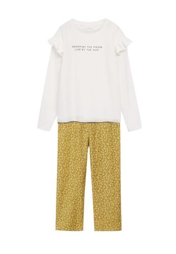 MANGO KIDS multi Cotton Printed Long Pyjamas 63C45KA5947545GS_1