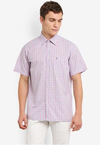 BGM POLO 多色 Checkered 短袖襯衫 BG646AA0S0KQMY_1