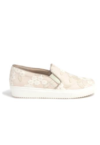 Shu Talk 米褐色 限量時尚白色喱士輕便悠閒運動鞋 C806DSHC782C03GS_1