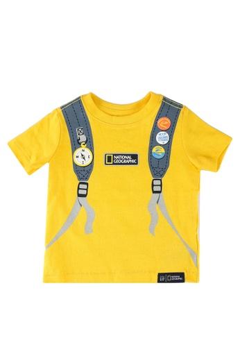 GAP yellow Nat Geo Graphics Tee 6E612KA92F90E4GS_1