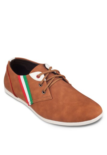 zalora 泳衣條紋邊飾時尚運動鞋, 鞋, 休閒鞋