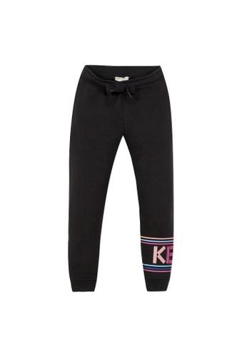 KENZO KIDS black KENZO GIRLS LONG PANTS 66B4BKAA52C57FGS_1