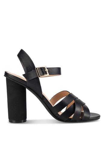 ZALORA black Strappy Round Heels 44D80SH13AD25FGS_1