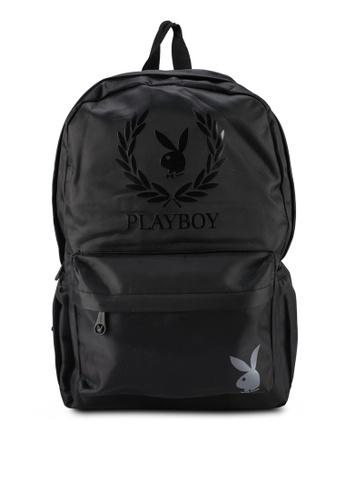 Playboy black Wreath Print Backpack 23704AC93BE38CGS_1