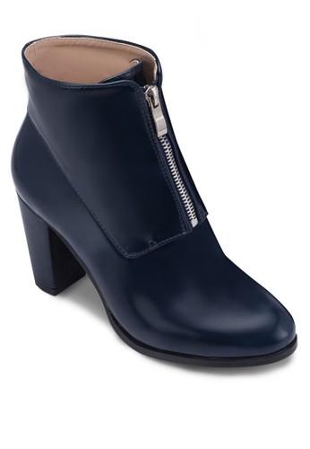 拉鍊粗zalora 心得 ptt跟高筒踝靴, 女鞋, 鞋