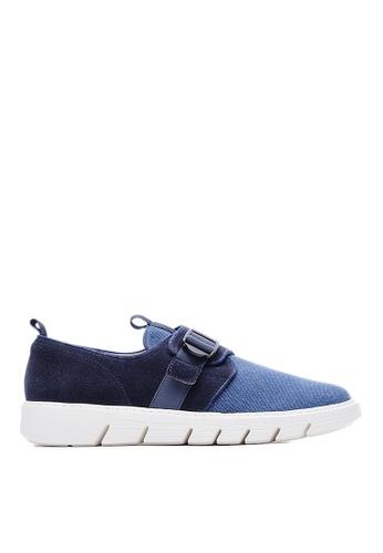 Life8 blue Lightweight Cow Suede Shoes LI286SH76FCXMY_1