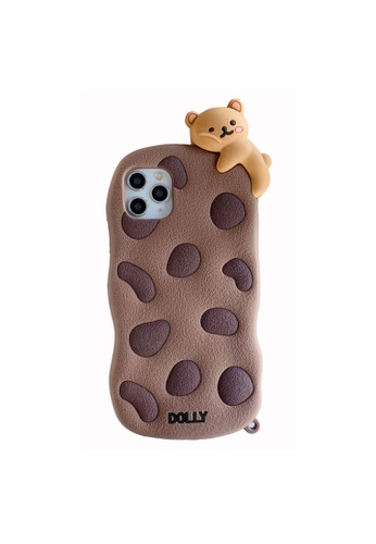 Kings Collection brown Cartoon Biscuit Bear iPhone 12 Pro Case A84A7AC7D25F93GS_1