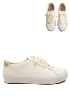 Carmilla Women Sneaker White with Buttermilk Ribbon (Zalora Sepatu Wanita Sneakers Fashion)