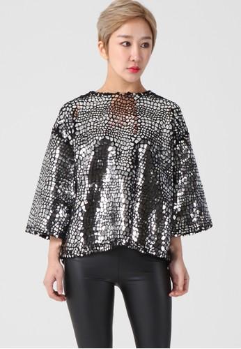 韓esprit官網流時尚 金屬製品外套頂 F4126, 服飾, 上衣