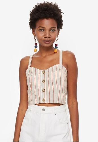 e0912419807a Buy TOPSHOP Stripe Cropped Bralet Top Online on ZALORA Singapore