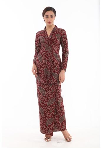 Amar Amran red Kebaya Batik Classic 562B4AA8AD788CGS_1