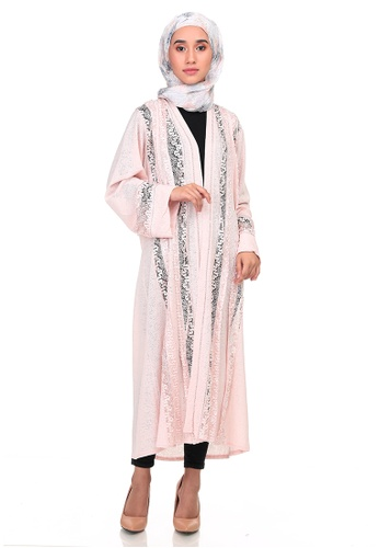 KASHKHA pink KASHKHA LACE KIMONO 8A028AAA955315GS_1
