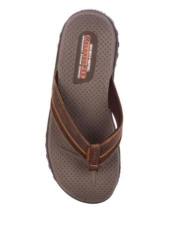 Skechers brown Reggae Cobano Thong Sandals 38BF1SH0E1D35DGS_1