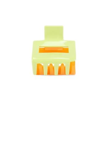 Glamorousky orange and green Simple and Fashion Green Orange Stitching Geometric Hair Claw 6E6C3AC5A894C4GS_1