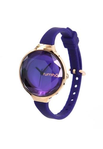 RumbaTime blue and gold Rumbatime Orchard Gem Mini Watch Sapphire RU023AC76ULFHK_1