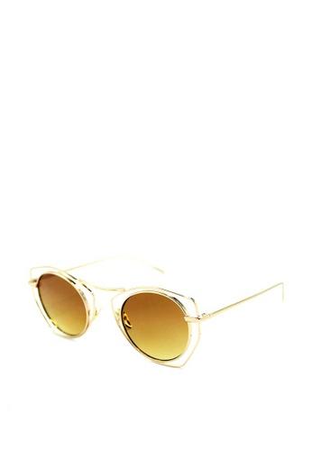 Peculiar and Odd brown Premium Round Mirrored Sunglasses 012 0ED69GLD61952FGS_1