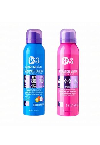 Be3 pink and blue Be3 Sun Protection Progressive Spray SPF 50/80/100 (Sensitive Skin) - 90ml + Moisturizing Body Spray  - 100ml D5F4CBE1868EBFGS_1