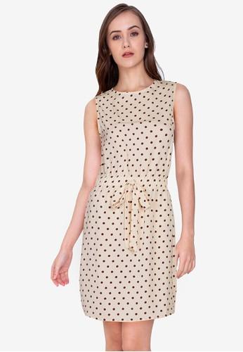 ZALORA WORK multi Sleeveless Tie Waist Dress D0D31AAED41CD1GS_1