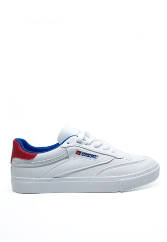 Twenty Eight Shoes red and blue Speed Lace Up Sneakers 6807 EF4F8SH5D49A92GS_1