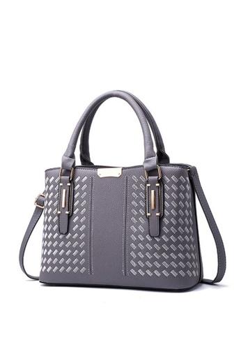 TCWK grey TCWK Korea Style Women Fashion Ladies Handbag - Grey  11B59ACD316E36GS 1 a51b4452dc305