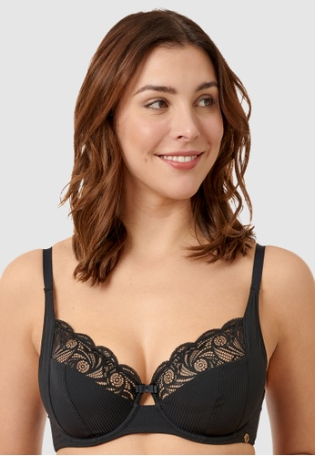 Sans Complexe black Ariane Essential Full Cup Underwired Bra 7ADE8US5C41E1AGS_1