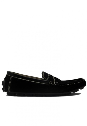 D-Island black D-Island Shoes Moccasin Slip On Lacoste Suede Soft Black DI594SH76SGLID_1