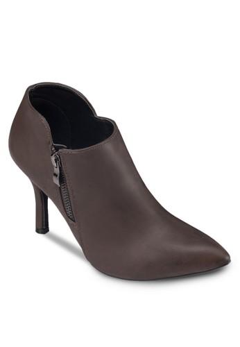 拉鍊高跟仿皮踝靴,zalora 手錶 評價 女鞋, 靴子