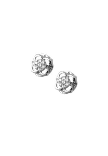GOLDHEART gold GOLDHEART Vividly Splendorous Florulent Duo Earrings, Diamond White Gold 750 (E1133) 2F09DACA9D445FGS_1