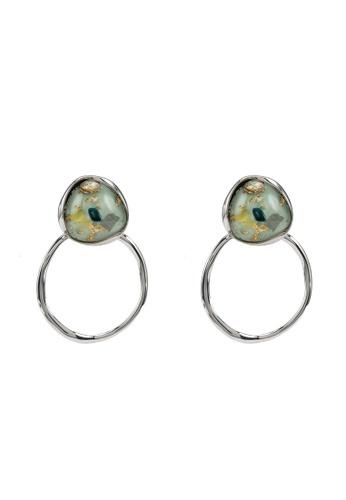 GLOBAL WORK green Gemstone Ring Earrings 8A070AC9D03DDEGS_1