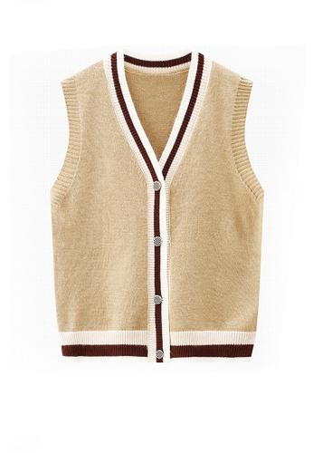 Twenty Eight Shoes brown VANSA Wool Vest Jacket  VCW-V01146 5E685AACA27A1CGS_1