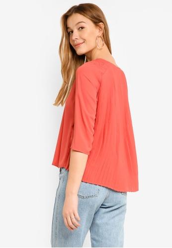 Vero Moda red Gwen 3/4 Top DE6F5AACB8169BGS_1