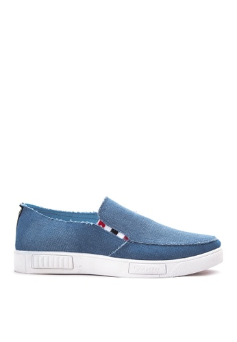 Preview blue Men's Slip on Sneakers PR211SH81DOGPH_1