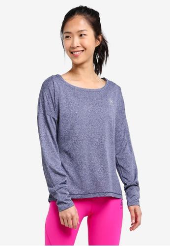Odlo blue Helle Long Sleeve T-Shirt OD608AA0S13CMY_1
