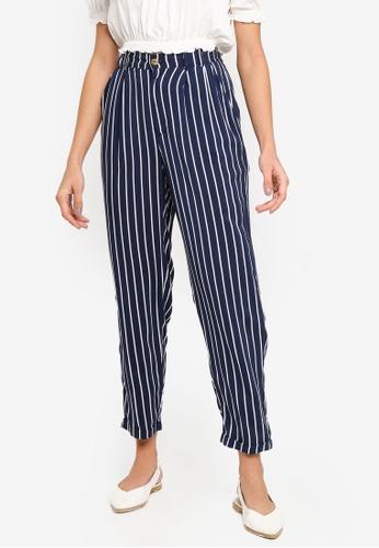 Cotton On navy Abi High Waist Pants 7971DAAB3141AFGS_1