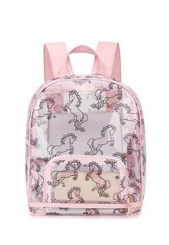 45a7661c420f Dazz pink Unicorn Transparent Backpack ABBA9AC6A8388FGS 1