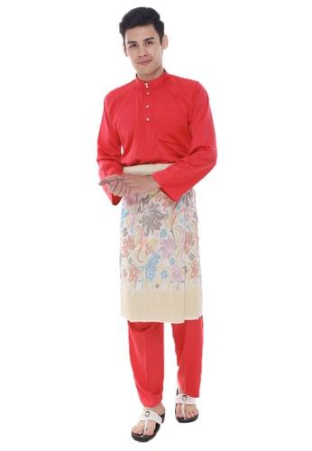 Amar Amran red Baju Melayu Classic 9E775AA34C6CB1GS_1