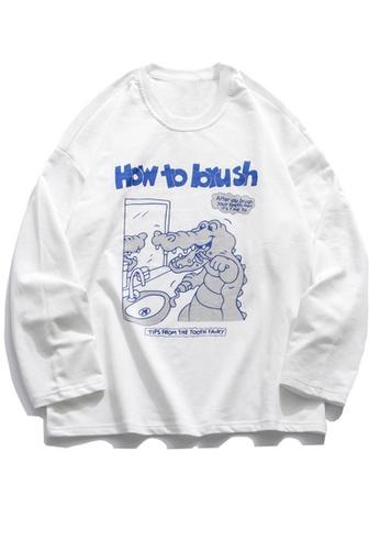 Twenty Eight Shoes Trend Cartoon Printed Long T-shirt HH0778 EA0DFAA94A83F1GS_1