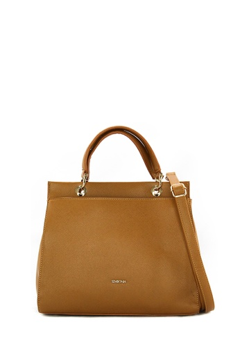 3337c51442db SEMBONIA brown 2-Way Synthetic Leather Tote Bag (Light Brown)  SE598AC0S84NMY 1