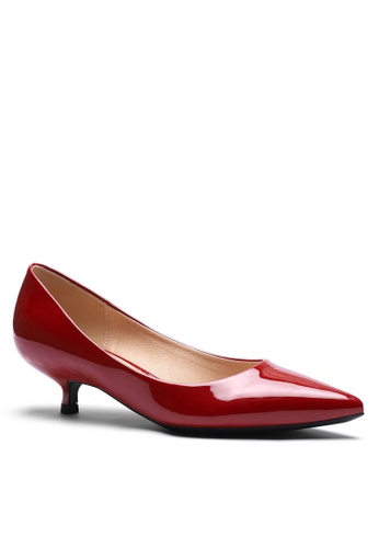 Twenty Eight Shoes 3.5CM 尖頭漆皮高踭鞋 295-7 C0AC8SH83D980AGS_1