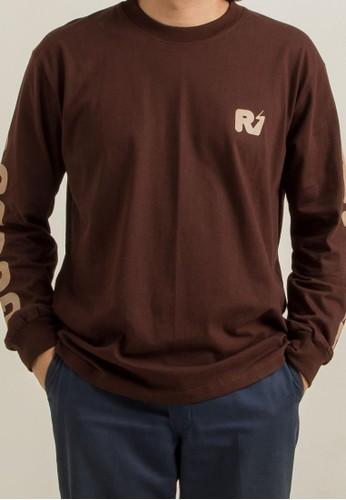 THE GOODS DEPT brown Ripple - LOGO LONGSLEEVE .DARK BROWN DAAB0AA97057D3GS_1