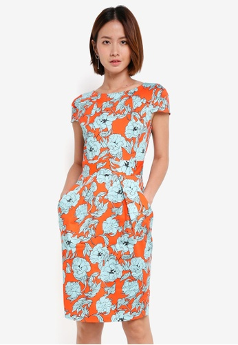 CLOSET orange Tulip Tie Back Dress 3B9A1AA27E9ED9GS_1