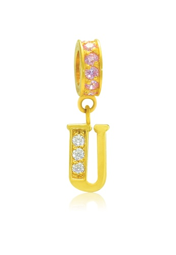 Aurora Italia gold Aurora Italia Alphabet - U 18K Gold Charm/Pendant 886CBACB46EDABGS_1